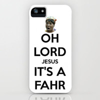 Oh Lord Jesus, It&#x27;s A FAHR! iPhone Case by Abigail Ann | Society6