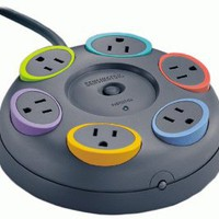 Kensington 62634 SmartSockets 6-Outlet 16 feet Cord Table Top Circular Color Coded Power Strip and Surge Protector: Computers &amp; Accessories