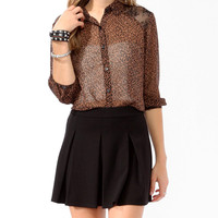 Safari Print Lace Panel Shirt | FOREVER21 - 2000048747