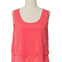 On The Edge Coral Top