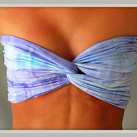 Watercolors Bandeau Top - Spandex Bandeau - Bandeau