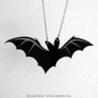 Lone Bat Necklace  Laser Acrylic Cut CAB Fayre by CABfayre on Etsy