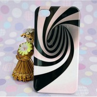 3D whirlpool vortex cartoon pink stripe case for iphone