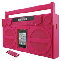 iHome Portable FM Stereo Boombox for iPod/iPhone - Pink (iP4PZ)