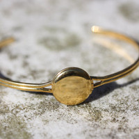 Small Gold Locket Bracelet