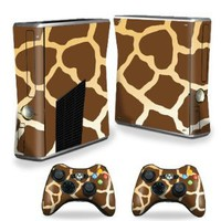 Amazon.com: Protective Vinyl Skin Decal Cover for Microsoft Xbox 360 S Slim + 2 Controller Skins Sticker Skins Giraffe: Video Games