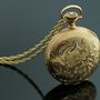 Antique Dueber 14K Pocket Watch and Locket by SITFineJewelry