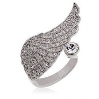 Romantic Angel Wing Rings