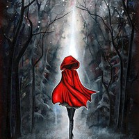 Little Red Riding Hood Dark Fantasy Fairytale LARGE by annya127