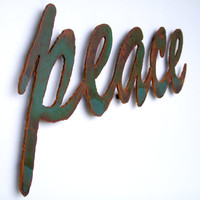 peace sign wall art metal 22 1/2 wide by FunctionalSculpture