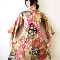 Great Expectations - iheartfink Handmade Hand Printed Womens Bold Beautiful Kimono Tunic Dress