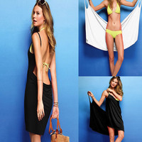 Hot New Beach Seaside Halter Sexy Bikini Skirt