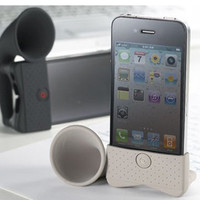 Wholesale Saxulr Horn Stand Amplifier Speaker for iPhone 4 4S - DinoDirect.com