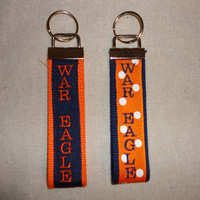 Auburn Fob Key Chain by SouthernBabyDelights on Etsy