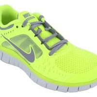 Amazon.com: Nike Free Run+3 Womens Running Shoes 510643-702 Volt 9 M US: Shoes