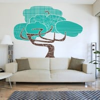 modernist tree wall decal by beepart on Etsy