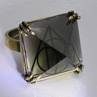 Harry Potter Deathly Hallows Adjustable Horcrux Ring