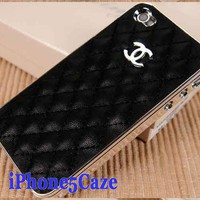 Chanel iPhone 4 4S Case - Sweet Black|Designer iPhone 4 Cases