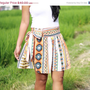 ON SALE Tribal Skirt Aztec Skirt Tribal Mini Skirt by LoNaDesign