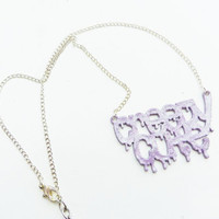 CREEPY CUTE - Pastel Goth Necklace with Glitter