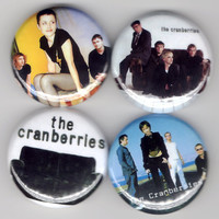 The Cranberries - Set of 4 - Dolores O&#x27;Riordan No Need To Argue Alternative Folk Rock Buttons Pins Badges Pinback