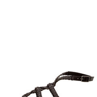 GoMax Berdine 92 Black Braided Strappy Gladiator Sandals