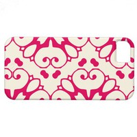 iPhone 5 raspberry and cosmic latte pattern case iPhone 5 Cases from Zazzle.com