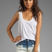 Daftbird Tank with Bottom Band in White from REVOLVEclothing.com