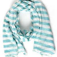 Nautical Smiles Striped Scarf