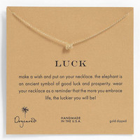 Dogeared 'Whispers - Luck' Boxed Pendant Necklace
