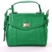 Green Top Handles - Jade Green Twist Lock Holdall | UsTrendy