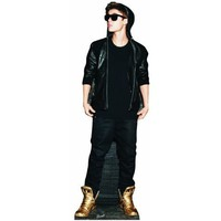 Justin Bieber Cardboard Cutout Poster Gold Shoes Life Size Standup