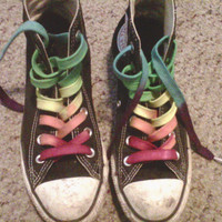CUSTOM 63 inch Hand Dyed Shoe Laces High Top Converse Vans