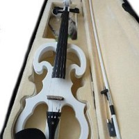 Amazon.com: EMS Shipping 4/4 Electric Violin with Box (Model: Cc00015) (White): Musical Instruments