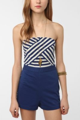 UrbanOutfitters.com > Cooperative Striped Top Sailor Romper