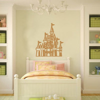 Castle Vinyl Wall Decal 22080 by CuttinUpCustomDieCut on Etsy