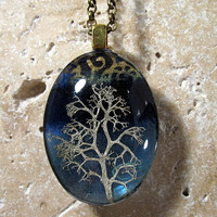 Reindeer Lichen Necklace Moss Jewelry Leaf Jewelry by Chaerea -1