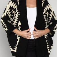 Aztec Print Cardigan