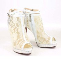 Satin Zipper High-heeled Sandals [TQL120305011] - $62.49 :