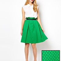 ASOS Midi Skirt in Texture at asos.com