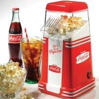 Nostalgia Electrics Coca Cola Series RHP310COKE Mini Hot Air Popcorn Popper