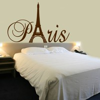 Paris Tower Girls Room Wall Decal Home Decor Vinyl Lettering Wall Saying Sticker Vinyl Disorder