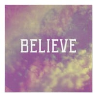 Believe Poster from Zazzle.com