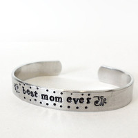 Best Mom Ever mother jewelry - mothers day gift - hand stamped jewlery