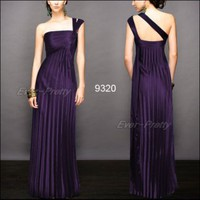 Gorgeous One Shoulder Purple Ruffles Evening Dresses | Ever-Pretty