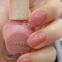 Shinning Dark Pink Sweet Color 12ml Nail Polish [582]