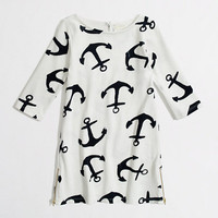 Factory girls' anchor boatneck dress