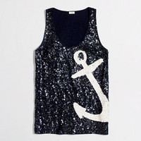 Factory nautical sequin tank