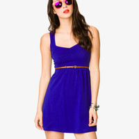 Sweetheart Neckline Dress w/ Belt | FOREVER21 - 2036456860