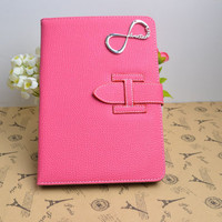 One Direction iPad Case,Infinity iPad Cover,Leather iPad Case,iPad Leather Cover/Case,Hot Pink Case With Directioner
